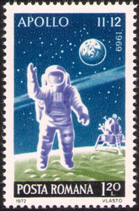 Timbre-filatelice-cosmos;1972-Incheierea-programului-Apollo;L-814;M-3074